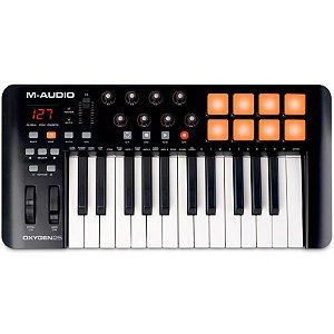 Teclado Controlador M-Audio Oxygen 25 IV USB MIDI Performance 25 Teclas