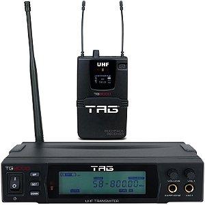 Transmissor Receptor Uhf In-Ear tag Tagima Tg-9000