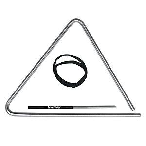 Triângulo Liverpool Cromado 25cm Tr25