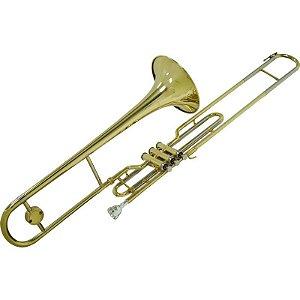 Trombone De Pisto Longo Shelter Tjs6424l Em Bb Com Case