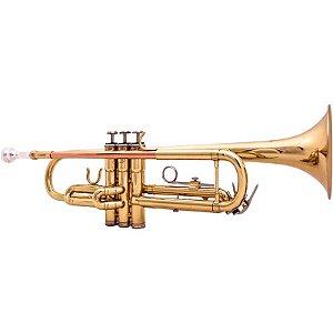 Trompete Benson Btp-1L Laqueado Dourado Em Bb Case