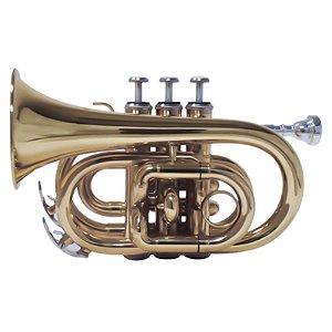 Trompete Pocket Shelter Tjs6500L Laqueado Bb Com Estojo
