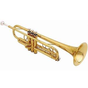 Trompete Shelter Sft6418l Laqueado Em Bb Com Estojo