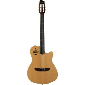 Violão Elétrico Godin Multiac Acs Slim Nylon Natural Com Bag