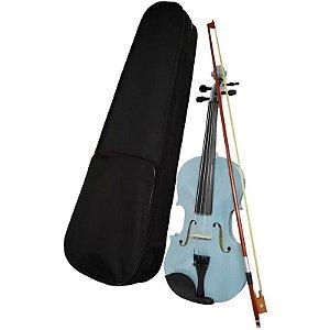 Violino Ronsani Sverve 4/4 Cinza Metalico Com Estojo Luxo Arco E Breu