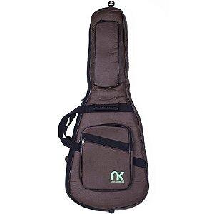 Bag Para Guitarra NewKeepers Couro Reconstituído Marrom