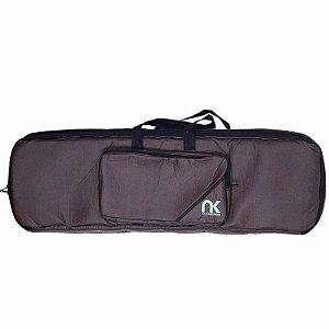 Bag Para Teclado 5/8 NewKeepers Couro Reconstituído Marrom