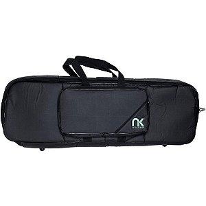 Bag Para Teclado Compacto 5/8 NewKeepers Couro Reconstituído Preto