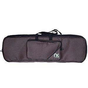 Bag Para Teclado Compacto 7/8 NewKeepers Couro Reconstituído Marrom
