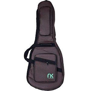 Bag Para Violão Folk NewKeepers Couro Reconstituído Marrom