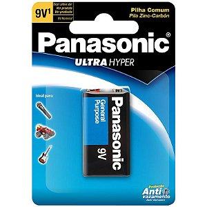 Bateria 9V Panasonic Para Pedal Contrabaixo Guitarra Violão