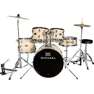 "Bateria Acústica Michael Audition Dm827N Natural 20"""