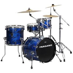 """Bateria Acústica Nagano Concert Gig 18"""" Brooklin Blue"""