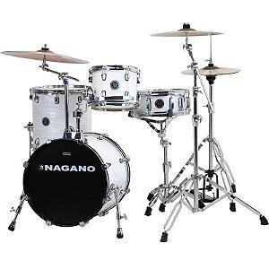 Bateria Acústica Nagano Concert Gig 18 Brooklin White