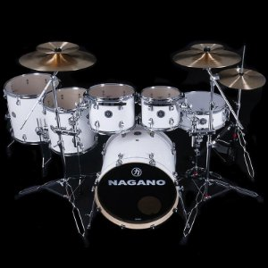 Bateria Acústica Nagano Drums Concert Full Lacquer Pure White