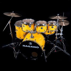 Bateria Acústica Nagano Garage Fusion Yellow Racing Bumbo 20
