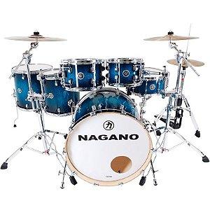 Bateria Acústica Nagano Work Series Blue Sparkle