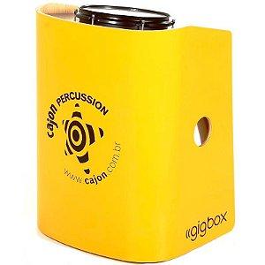 Bateria Compacta Cajón Percussion Gig Box Amarelo Tajon
