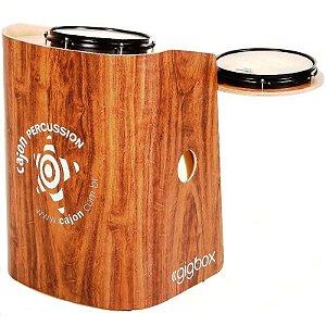 Bateria Compacta Cajón Percussion Gig Box Imbuia Tajon