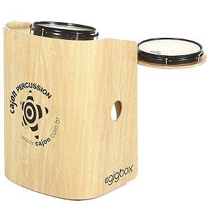 Bateria Compacta Cajón Percussion Gig Box Marfim Tajon