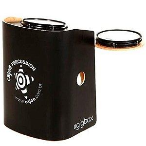 Bateria Compacta Cajón Percussion Gig Box Preto Tajon