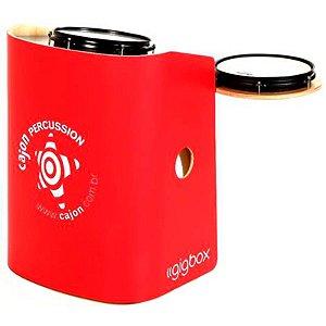 Bateria Compacta Cajón Percussion Gig Box Vermelho Tajon