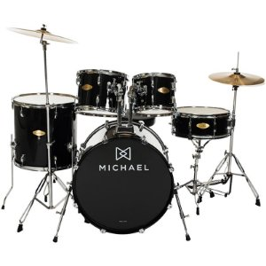 Bateria Michael Audition Dm827 Preta 20""