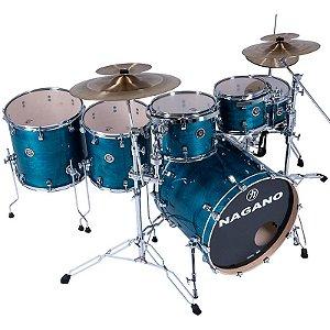 Bateria Nagano Drums Série Concert Full Lacquer Deep Blue