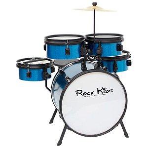 Bateria Rmv Infantil Rock Kids Pbk 14652 Azul Sparkle
