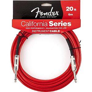 Cabo Para Instrumentos 6m California Series Vermelho Fender