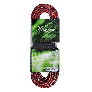 Cabo Para Instrumentos Benson GC059R P10 6m Têxtil Vermelho