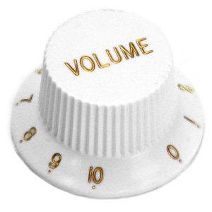 Knob Para Guitarra Santo Angelo Stratocaster Volume White Branco