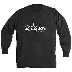 Camiseta Zildjian Classic Long L T-4123 Preta