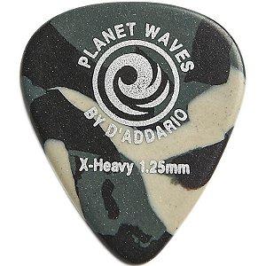 Palhetas Planet Waves Camoflauge Celluloid X-Heavy Gauge