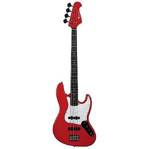 Contrabaixo Eagle 4 Cordas Sjb005 Rd Jazz Bass Vermelho