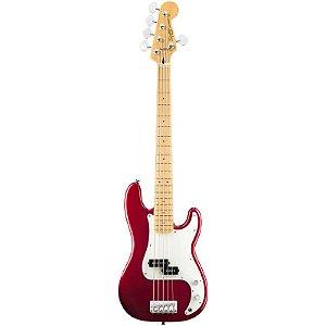Contrabaixo Fender Squier Precison Bass 5 Cordas Vintage Modified Candy Apple Red