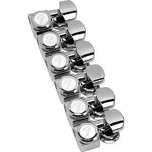 Tarraxas Fender Para Strato/Tele 38-11 F-Sl Níquelada Com Trava