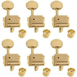 Tarraxas Para Guitarra Gotoh Dourada Sd91-05m Gld 6 Em Linha