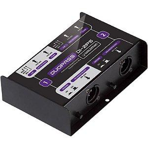 Direct Box Passivo Waldman Duopass DI-2PS 2 Canais