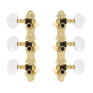 Tarraxas Rozini Para Violão Nylon Douradas RA305GKPG-P2W 3x3