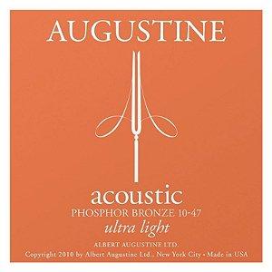Encordoamento Augustine Para Violão Aço 010 Phosphor Bronze