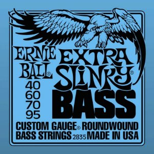 Encordoamento Contrabaixo 4 Cordas 040 Ernie Ball Super Slinky 2835