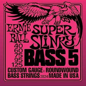 Encordoamento Contrabaixo 5 Cordas 040 Ernie Ball Super Slinky 2824