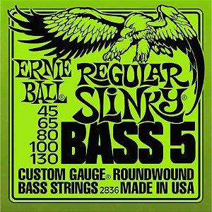 Encordoamento Contrabaixo 5 Cordas 045 Ernie Ball Super Slinky 2836