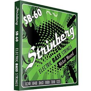 Encordoamento Contrabaixo 6 Cordas 030 Strinberg Sb60