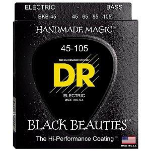 Encordoamento Contrabaixo DR Black Beauties 045 4 Cordas Preto Bkb-45