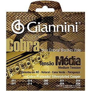 Encordoamento Giannini Cobra Para Viola Gesvm Média