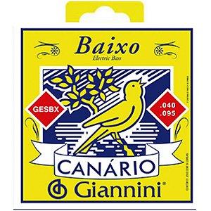 Encordoamento Giannini Para Contrabaixo Canário Gesbx