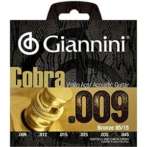 Encordoamento Giannini Para Violão Aço Bronze 0,09 Geewak