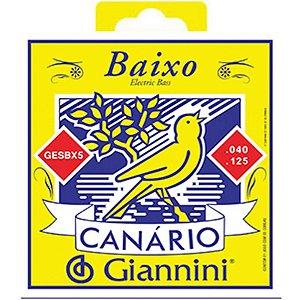 Encordoamento Giannini P/ Contrabaixo 5 Cordas Canário Gesbx5